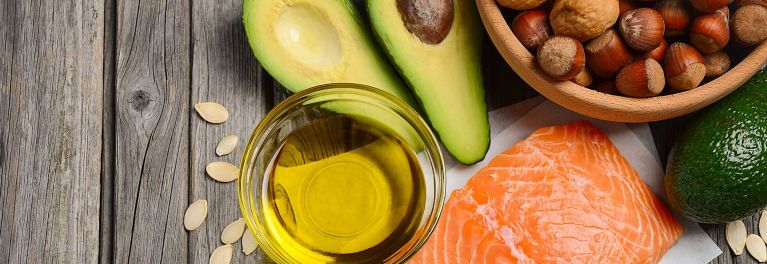 Salmon and avocado can be part of a low-fat diet