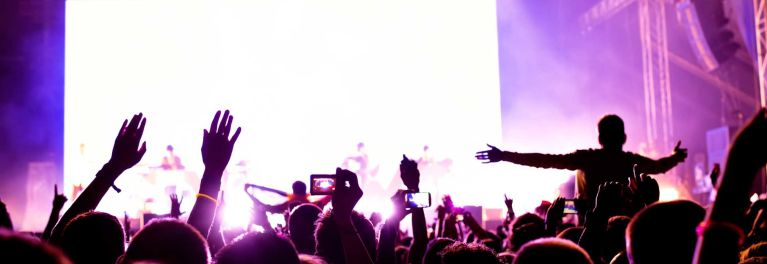 This is a photo of a concert. Prevent hearing loss by protecting your ears at loud concerts.