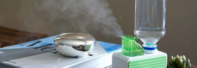 Personal humidifiers combat dry office air.