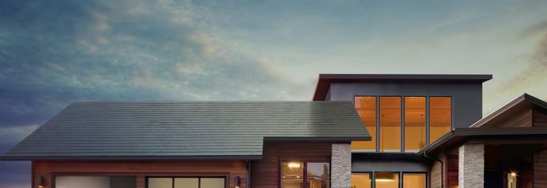 Solar roof that looks like traditional shingles.