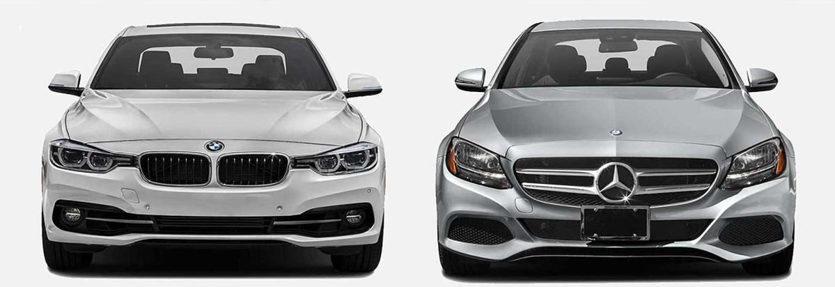 Captivating BMW 3 Series (left) And Mercedes Benz C Class Sports Sedans