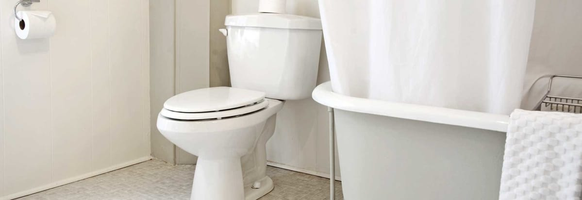 image of a white toilet