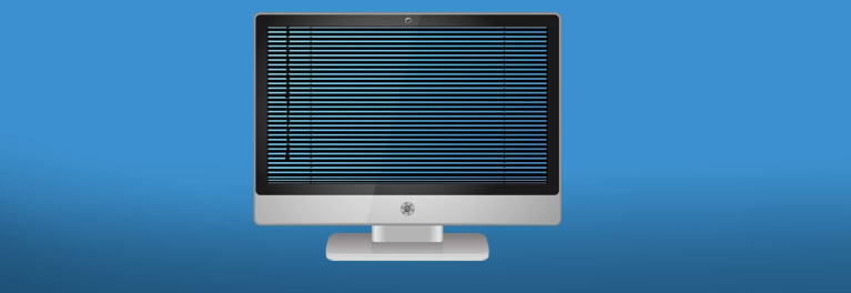 Computer with venetian blind in the screen for a story on opt-outs to preserve your privacy