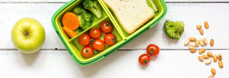 This shows a nutritious lunch, an important part of back-to-school health.