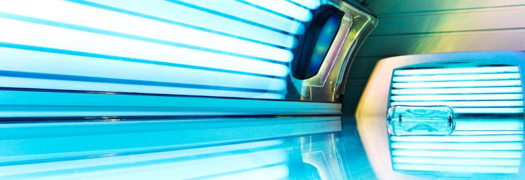 Tanning beds won't give you a safe suntan.
