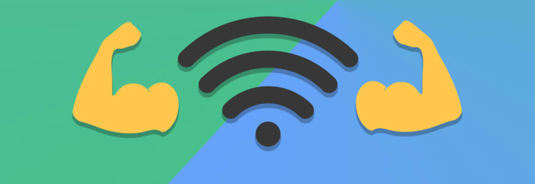 Photo of router for article on getting a stronger WiFi signal.