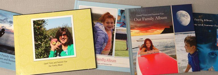 This photo show five photo books