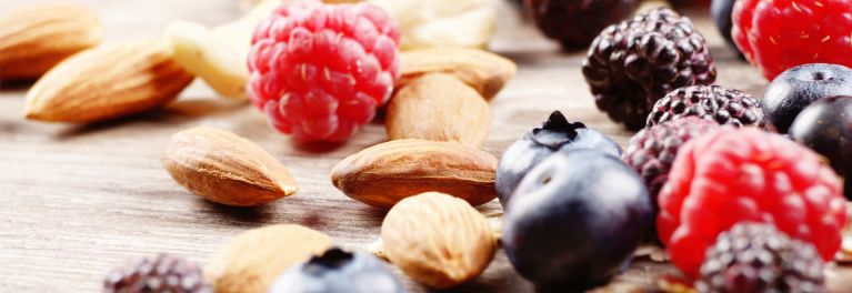 Berries and nuts are brain foods.