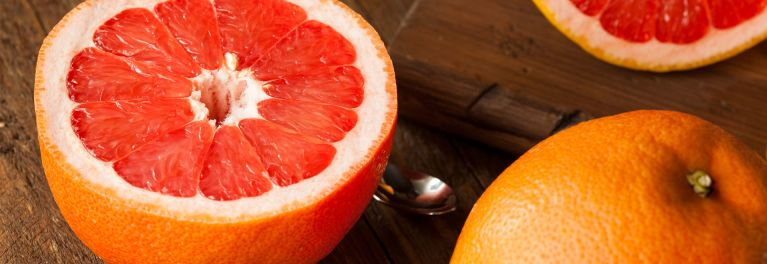 Consumer Reports tells you when grapefruit and medication can be a dangerous mix and how to keep yourself safe. Image of grapefruit.