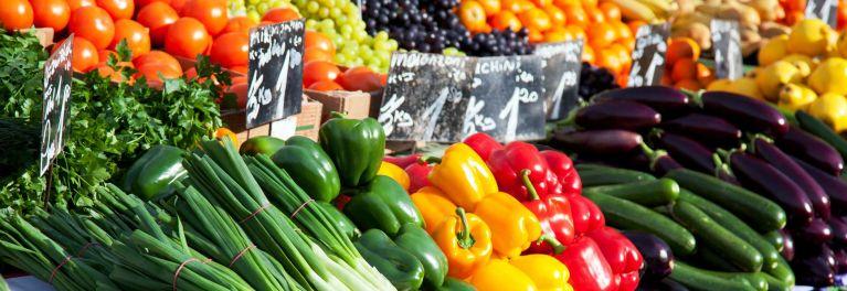 Vegetables at a farmers market.