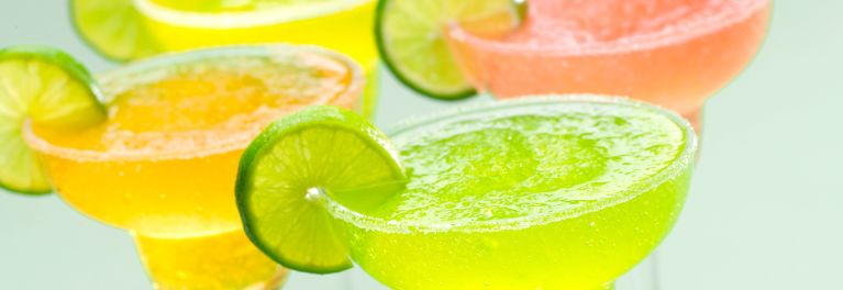 Icy mixed drinks made in Vitamix blenders.