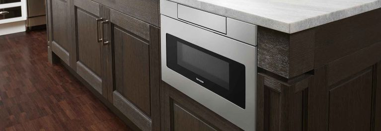 Sharp SM-D3070AS built-in microwave drawer.