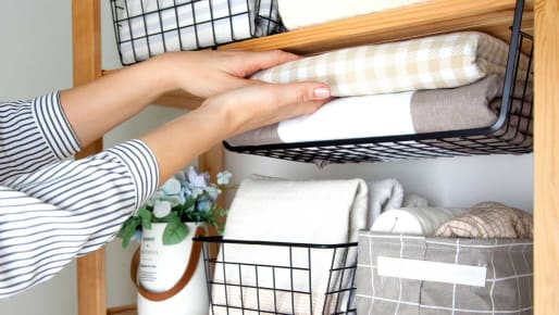 Storage Ideas for Sheets and Such