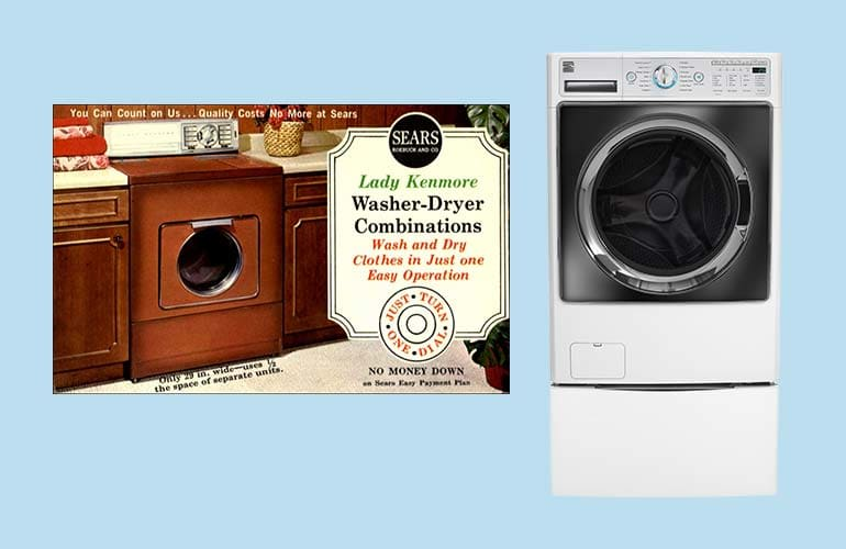 Two Kenmore all-in-one washer dryers.