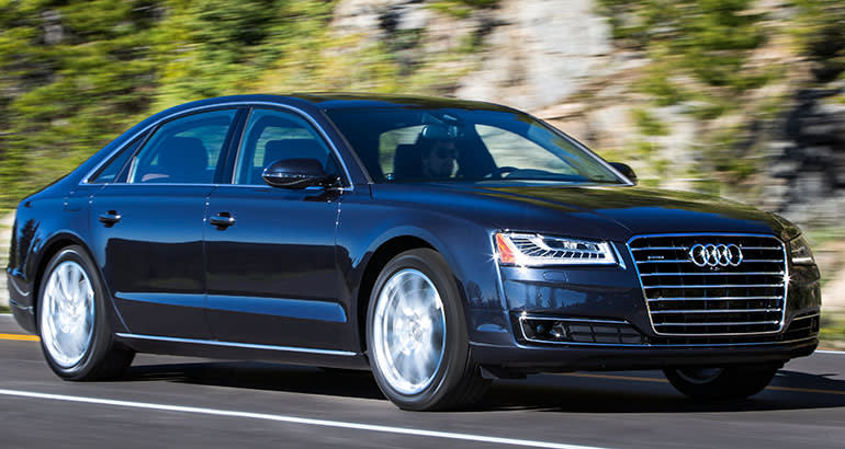 Best-riding car Audi A8.