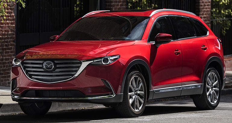 The Mazda CX-9 is one of the best-riding SUVs.