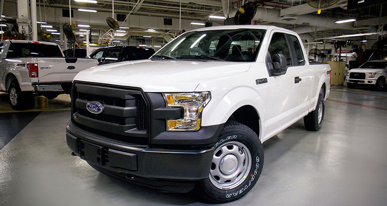 2016 Ford F-150 in factory.