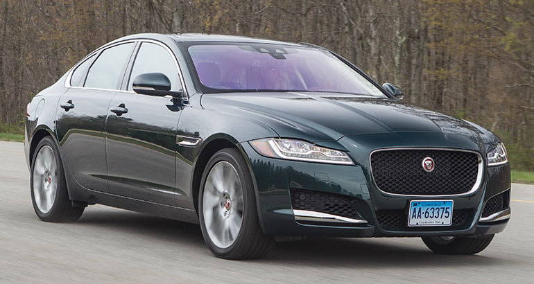 Best-riding car Jaguar XF.