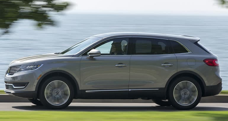 The Lincoln MKX is one of the best-riding SUVs.
