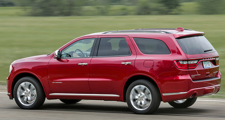 The Dodge Durango is one of the best-riding SUVs.