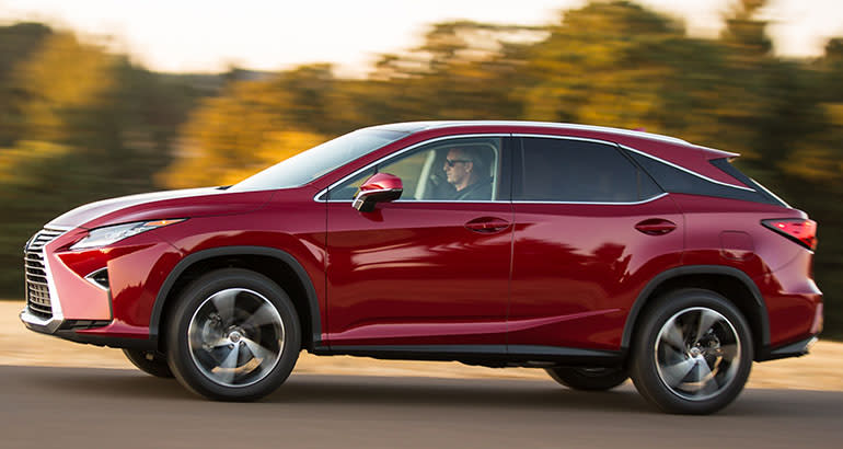 The Lexus RX is one of the best-riding SUVs.