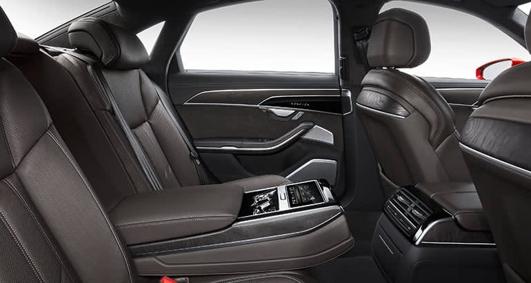 2019 Audi A8 backseat.