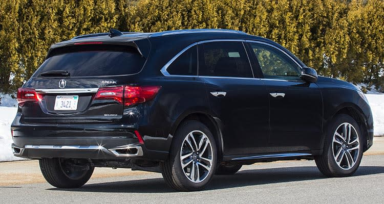 2017 Acura MDX that's included in the latest Acura recall.