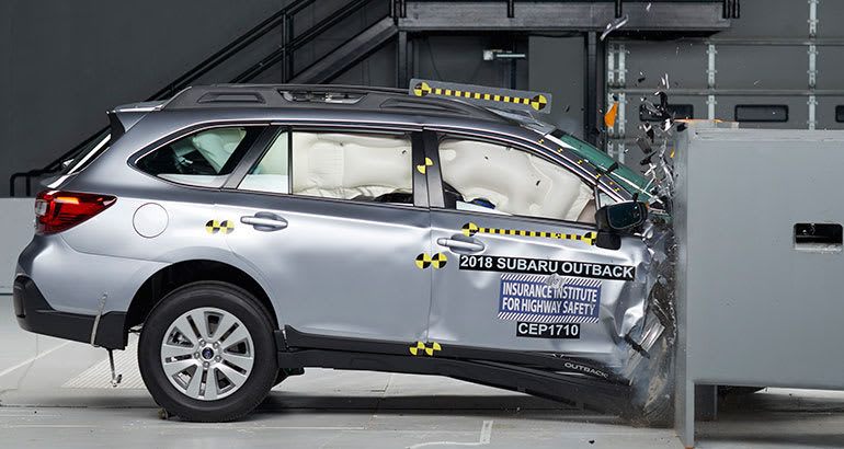2018 Subaru Outback during crash test