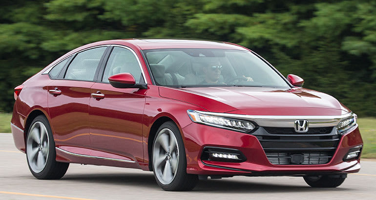 2018 Honda Accord front driving