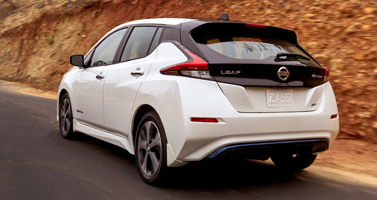 2018 Nissan Leaf rear.