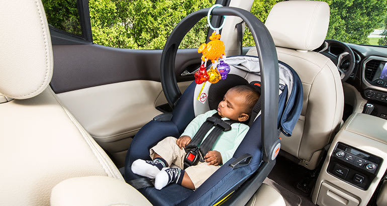 Infant car seat with toys