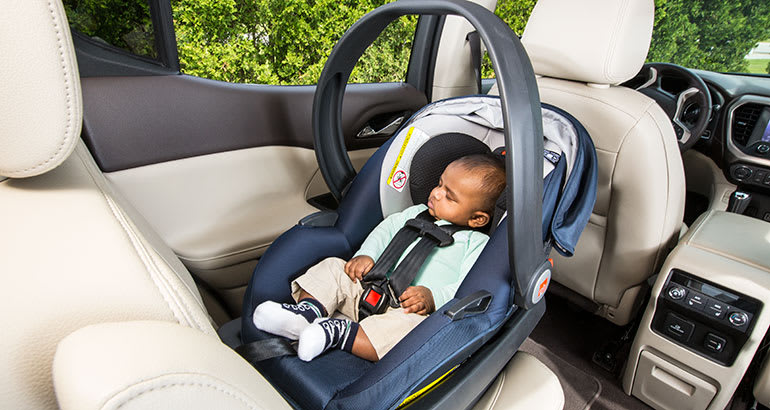 Infant car seat without toys
