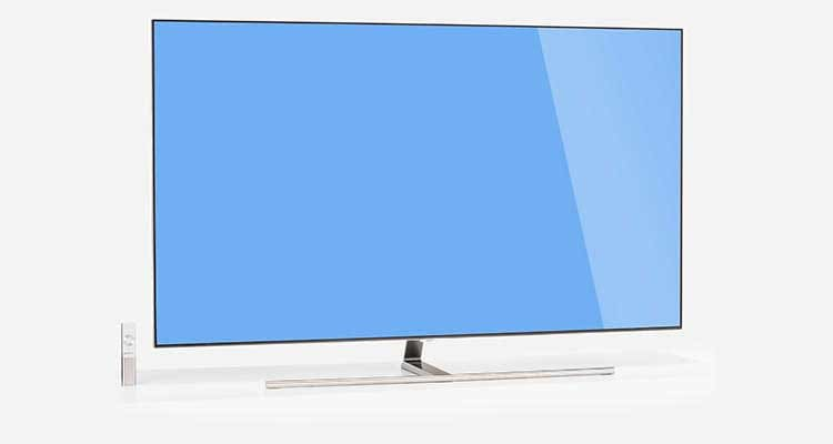 Photo of the Samsung QLED QN65Q7F TV.