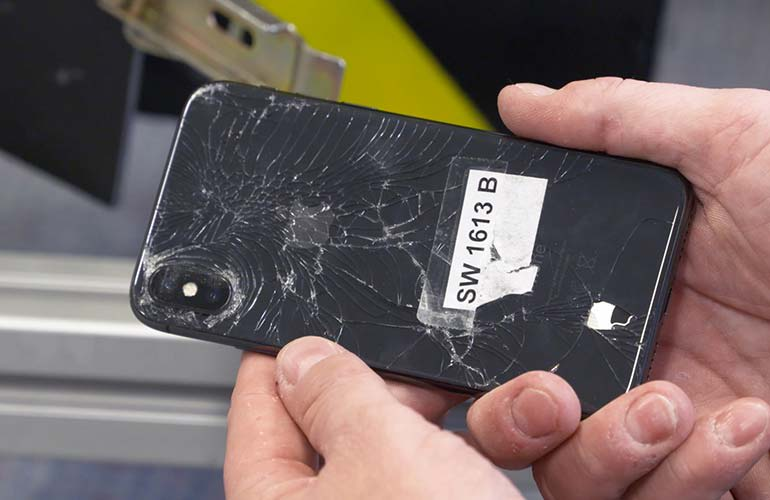 iPhone X review from Consumer Reports' tumbler test revealed damage to the phone