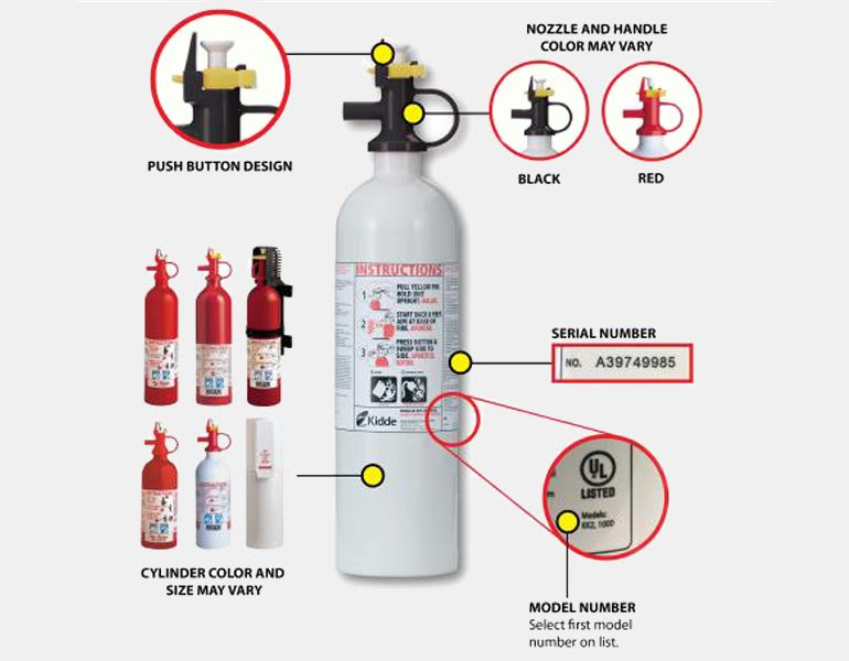Kidde recalled fire extinguishers