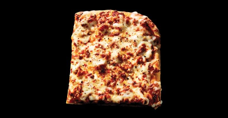 slice of sicilian pizza