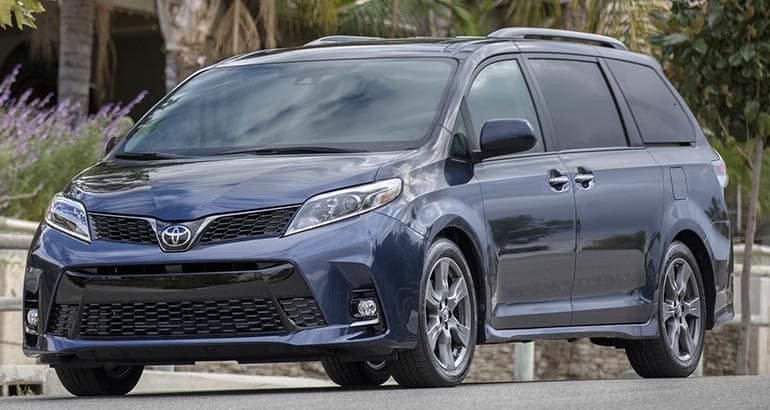 Best Cars for Active Families - Toyota Sienna