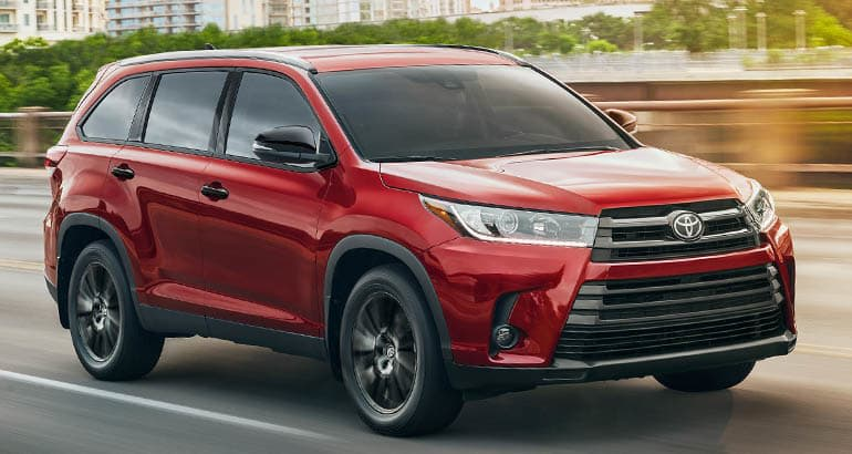 Best Cars for Active Families - Toyota Highlander