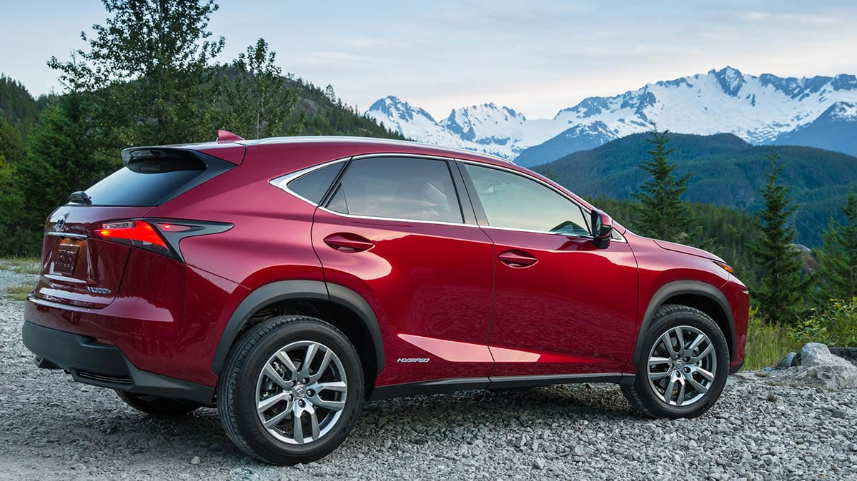 The Lexus NX Hybrid stands out for its fuel economy and acceleration