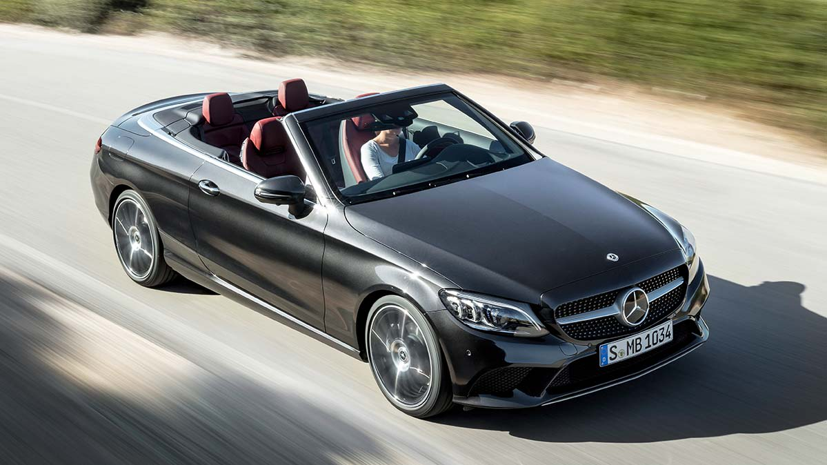 A Mercedes-Benz convertible.