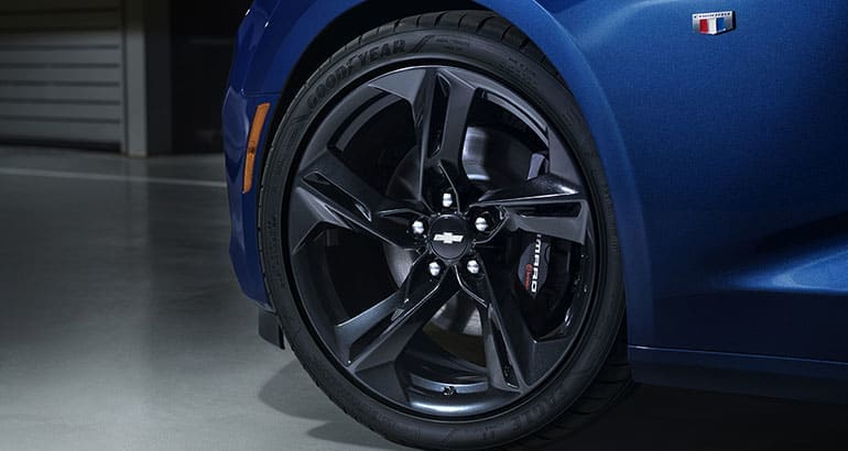 Chevrolet Camaro with upgraded tires reminds of key questions to ask about tires