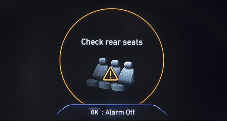 2019 Hyundai Santa Fe Rear Occupant Alert warning.