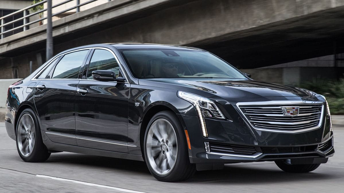 Cadillac CT6 recalled, shown here driving