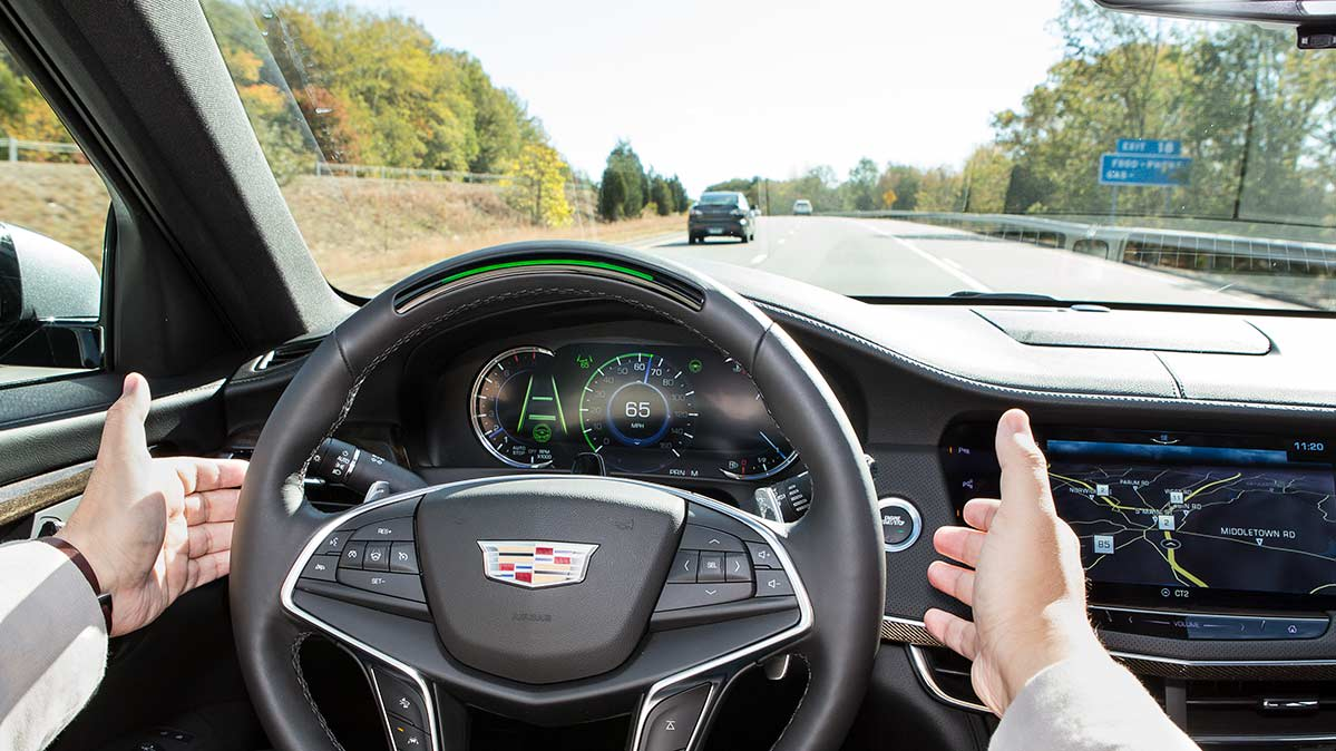 Cadillac Super Cruise, with hands off wheel. Researchers worry there may be more crashes related to automated driving systems.