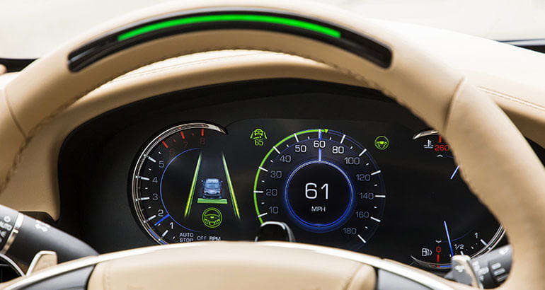 2018 Cadillac CT6 steering wheel with GM Super Cruise Driver-Assist System