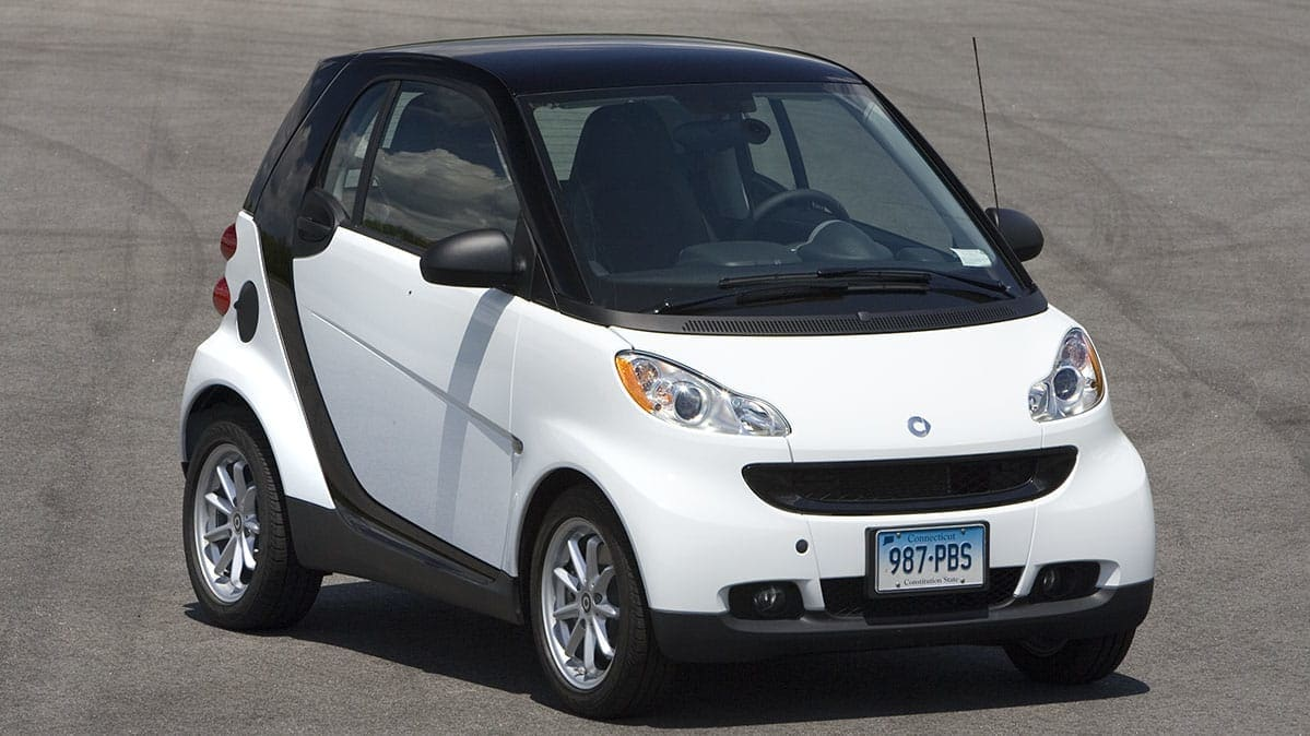 A car affected by the Smart ForTwo recall