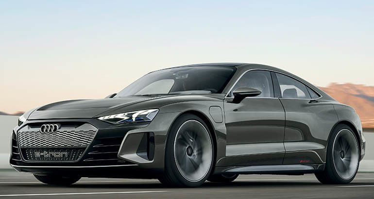 Audi's E-Tron GT luxury EV concept sedan.