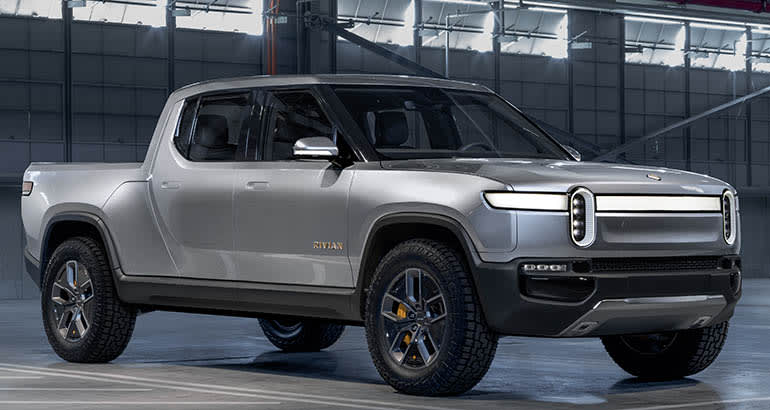 Rivian R1T—production is delayed due to the coronavirus.