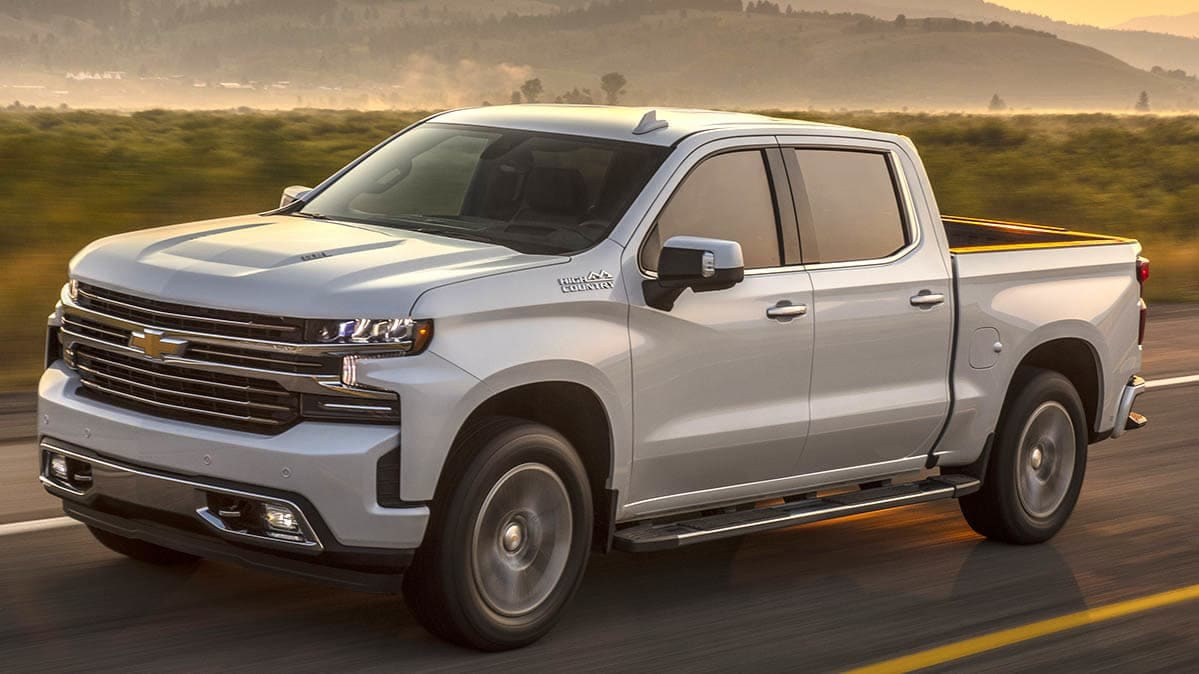 2019 Chevrolet Silverado High Country driving