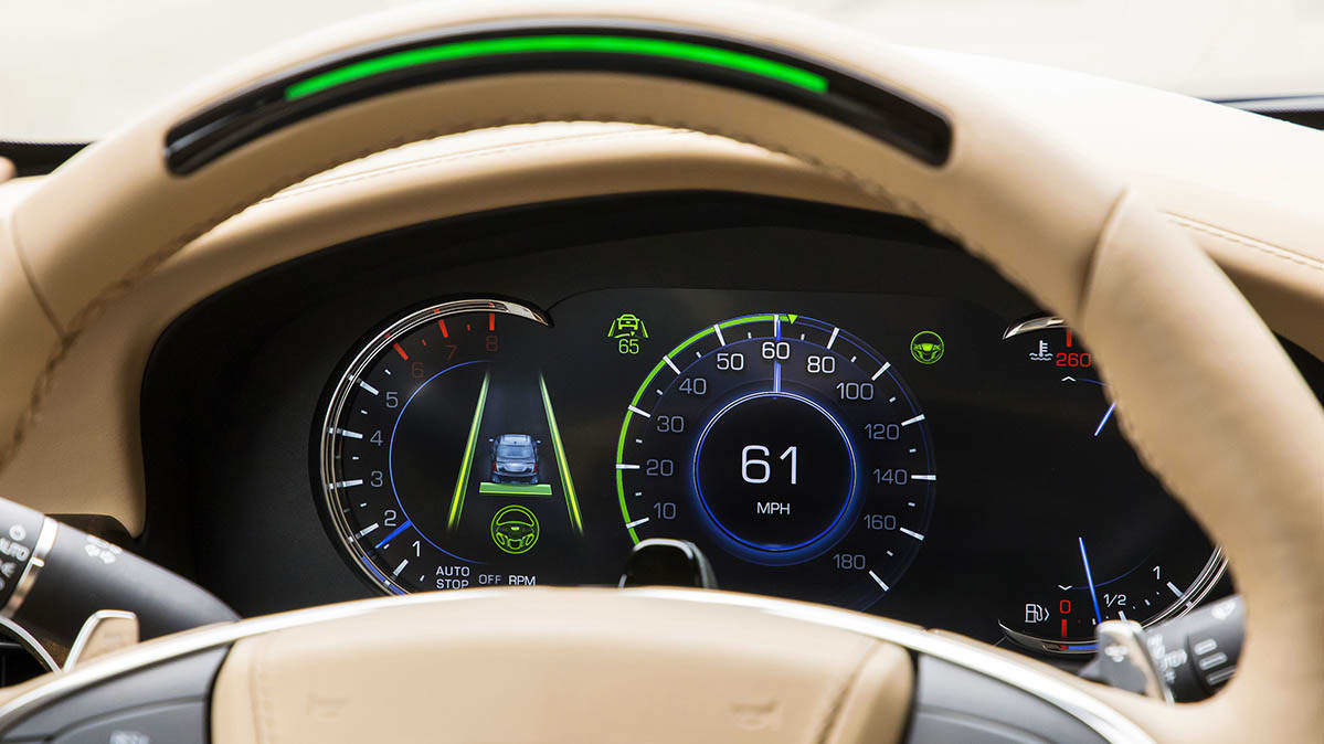 Cadillac CT6 Super Cruise steering wheel